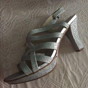 Naturalizer sliver glitter sandals  heels